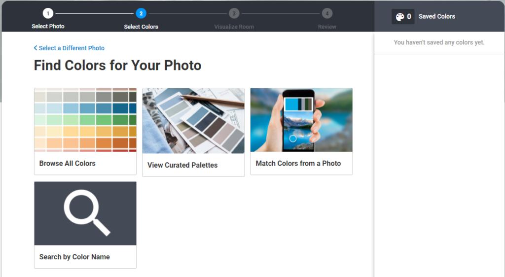 Kleuren uitzoeken online schilder tool