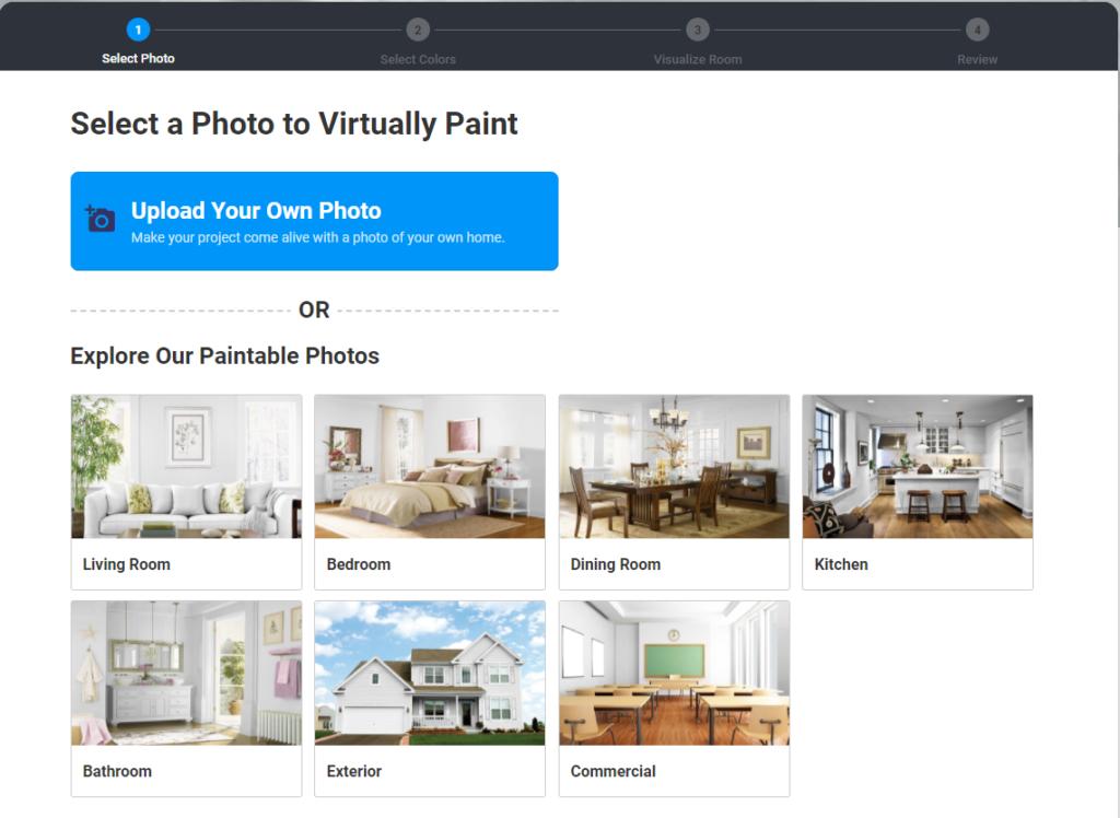 foto uploaden naar online schilders tool