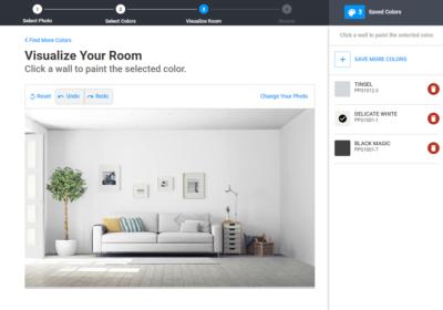Moeite met het kiezen van de juiste kleuren? Schilder uw project dan eerst online.